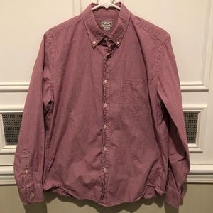 J Crew Red Button Down Shirt EUC - Medium